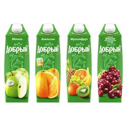 Сок Добрый 1 литр в асс.